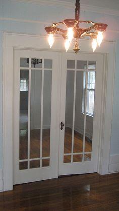 Black Interior Doors, Prairie Style Houses, Double French Doors, Bungalow House Plans, House Inside, Exterior Doors, Door Design, Windows And Doors, Decoration