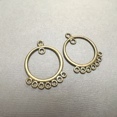 Antique Brass Chandelier Drop. Earring Findings. Hoop Earrings.   20mm. Two (One…