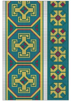 This post was discovered by ra Celtic Cross Stitch, Cross Stitch Borders, Cross Stitch Designs, Cross Stitch Embroidery, Cross Stitch Patterns, Tapestry Crochet Patterns, Bead Loom Patterns, Peyote Patterns, Mochila Crochet
