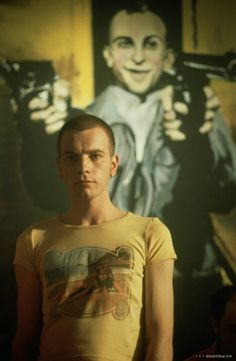 Trainspotting with Taxi Driver poster at that back. Can it get anymore awesome?