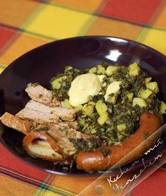 Kochen mit Herzchen - ♥ Mein Koch-Tagebuch mit viel Herz ♥: Grünkohl mit Bregenwurst