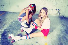 These photos of roller derby girls remind me of something out of Nylon magazine.
