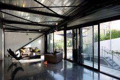 black concrete flooring?