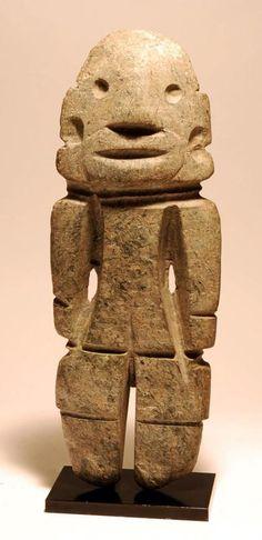 Mezcala Large and Impressive Standing Stone Variant, 300 to 100 BC.