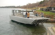 33ft Diesel Landing Craft Cool Boats, Small Boats, Landing Craft, Aluminum Boat, Boat Stuff, Power Boats, Boat Building, Water Crafts, Fishing Boats