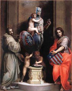 Les Super Héros s'invitent dans la peinture classique | Ufunk.net