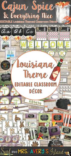 My Louisiana Classroom Decor Bundle is a perfect back to school resource to help teachers with classroom organization and classroom management!  Full of shabby chic themed Mardi Gras, crawfish, and other Louisiana themed decorations...there's no doubt Chip and Joanna would put their seal of approval on this Louisiana Purchase!  Click here to see what other teachers have to say about the editable back to school printables found in this swamp!
