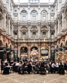 Inside the beautiful Royal Exchange Cafe and Sauterelle London