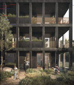 World Architecture Community News - Adjaye Associates' new multi-family housing to feature a gridal layout of dark terrazzo façade Architecture Tattoo, Architecture Board, Architecture Design, Sou Fujimoto, Portfolio Design, Architectural Section, Commercial Architecture, Modern House Plans, Better Homes