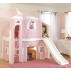 Bolton Furniture Loft Castle Tower Playhouse Bed with Slide and Ladder
