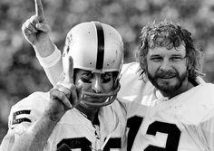 Fred Biletnikoff and Ken Stabler, Oakland Raiders