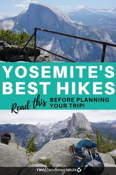 The best way to take in the sights at Yosemite is lacing up your hiking boots and hitting the trail. An avid hiker rounds up some of her favorites in this handy guide to the best hikes in Yosemite National Park. National Parks Usa, Zion National Park, Yosemite Falls, Yosemite Hiking, Yosemite Vacation, Hiking Trails, Best Hikes, California Travel, Travel Usa