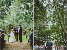 Amy and Rob's Rustic Outdoor Woodland Wedding