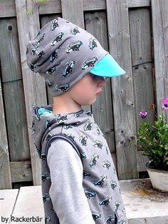 Sommermützen FREEBOOK: Lybstes Beanie mit Schirm! - Lybstes. Baby Hat Patterns, Beanies, Baby Hats, Baby Car Seats, Bucket Hat, Children, Fashion, Tejidos, Sewing Patterns Free