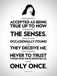 Philosophy Posters: Beautiful and Inspiring Words.  Philosopher: Rene Descartes