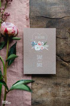 Individuelle Save-the-Date Karten mit floralen Designs stimmen eure Gäste direkt auf eure Hochzeit im Frühling oder Sommer ein. #bohohochzeit #hochzeitspapeterie #kartenmacherei Save The Date, Big Day, Vintage Stil, Dating, Wedding, Designs, Floral, Card Wedding, 秋のウェディング 装飾