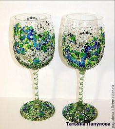 Бокалы, стаканы ручной работы. Ярмарка Мастеров - ручная работа. Купить Бокалы подарочные. Handmade. Бокал, свадьба, стекло
