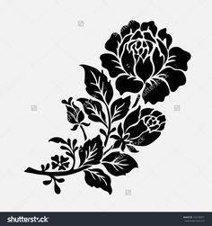 Rose MotifFlower Design Elements Vector