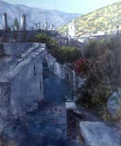Primeras luces en Capileira. Mixta/tabla 85*70. II Certamen de Capileira. Alpujarra. Pedro Iglesias Asuar.  I Love Alpujarra
