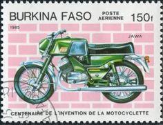 postage stamps of burkina faso | Postage Stamp Motorcycle Burkina Faso