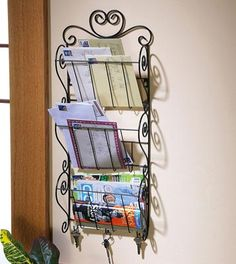 Wall Mounted Metal Mail & Magazine Organizer