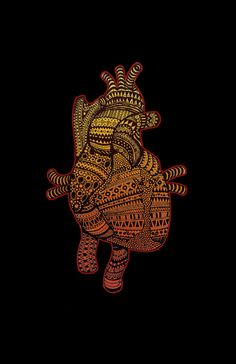 Native Heart Art Print by RAIKO