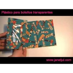 Aprende a coser bolsillos transparentes con plástico Bags, See Through, Sewing Pockets, Sewing By Hand, Chalkboard Fabric, Cotton Canvas, Easy Quilts, Totes, Handbags