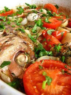 Cinco Quartos de Laranja: Peixe assado no forno à portuguesa