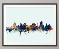 Tulsa Skyline, Tulsa Oklahoma Cityscape Art Print (2525) by artPause on Etsy