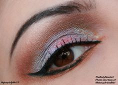 """""""Contradiction"""" by MakeupArtistMe!: Latte, Teal Brown, Iced Blue and Shimmers Teal pigments. Mangolicious glitter."""