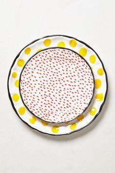 Dot Pop Dinner Plate - Anthropologie.com