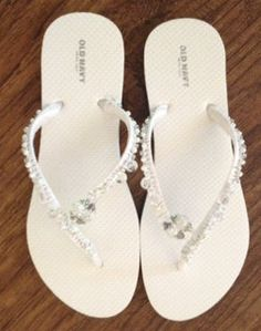 Decorated Flip Flops by DecoratedFlipFlops on Etsy, $25.00