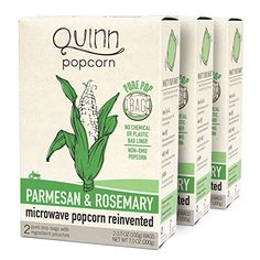 Quinn Popcorn: Microwave Popcorn Parmesan and Rosemary – Great Snack Food for Movie Night {Parmesan…