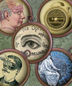 1 inch Round Images  Victorian Steampunk by steamduststudios, $3.90