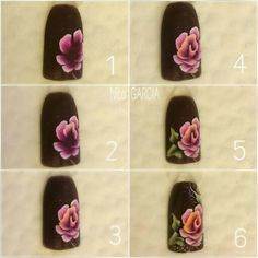 Uñas One Stroke, One Stroke Nails, Colorful Nail Art, Floral Nail Art, Nails First, Nails Only, Helen Nails, Nails & Co, Crazy Nail Art