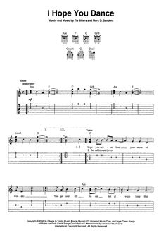 """I Hope You Dance"" Sheet Music: www.onlinesheetmusic.com"