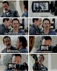 He's just biding his time. Crazy Rick will come back at some point and when he does negan better watch out. S7E4 'Service' #TWD
