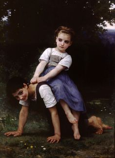 """La Bourrique"" William-Adolphe Bouguereau Date: 1884 Medium: oil on canvas Berkshire Museum William Adolphe Bouguereau, John William Godward, Jean Leon, Munier, Pierre Auguste Renoir, Wow Art, Oil Painting Reproductions, Claude Monet, French Artists"