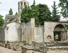 Arles Alyscamps Roman cemetery, Provence, France
