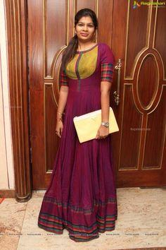 DIY with old silk saree Western Dresses, Indian Dresses, Indian Outfits, Long Gown Dress, Sari Dress, Long Frock, Designer Anarkali Dresses, Designer Dresses, Kurta Designs