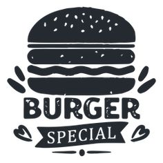 Burger logo logotype silhouette Burger Party, Burger Menu, Burger Specials, Drink Specials, Burger Icon, Drinks Logo, Logo Sign, Advertising Photography, Vintage Posters