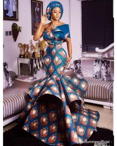 The best collection of unique and classic ankara gown styles of these ankara gowns are classically made African Prom Dresses, African Wedding Dress, African Fashion Dresses, African Dress, African Style, African Ankara Styles, Fashion Outfits, African Weddings, Ankara Dress