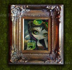 Absinthe-Goggles-Jasmine-Becket-Griffith-ORIGINAL-PAINTING-big-eye-steampunk-art