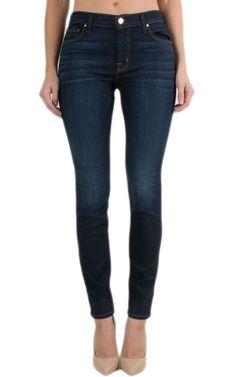 J BRAND Mid Rise 811 Slim Ankle Skinny Jeans Pants Dark Blue Covert 32 $198 #JBrand #SlimSkinny