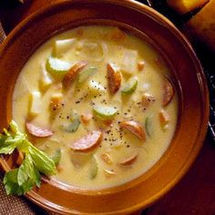 Hot-Stuff Kielbasa-Cheese Soup.