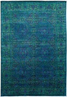aquasilk 8'11x 13'7 rug ABC Color Reform Overdyed rugs $1900 +/_
