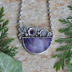 Hey, I found this really awesome Etsy listing at https://www.etsy.com/listing/150260377/chalcedony-amethyst-necklace-in-oxidised