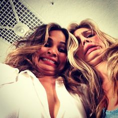 Pin for Later: Stars Bring the Laughs in This Week's Cutest Celebrity Candids  Chrissy Teigen goofed off with model Kelly Rohr. Source: Instagram user chrissyteigen
