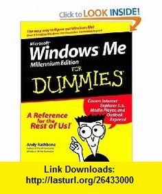 Microsoft Windows Me for Dummies (9780764507359) Andy Rathbone , ISBN-10: 0764507354  , ISBN-13: 978-0764507359 ,  , tutorials , pdf , ebook , torrent , downloads , rapidshare , filesonic , hotfile , megaupload , fileserve