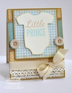 Baby Shower Cards Welcome Little Prince by basilefamily - Cards and Paper Crafts at Splitcoaststampers